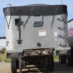 ZFS 2008 East three-axle dump trailer back