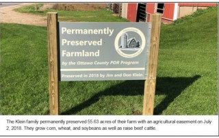 Permanently Preserved Farm Land in Ottawa County