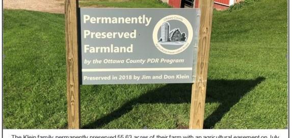 Permanently Preserved Farm Land in Ottawa County