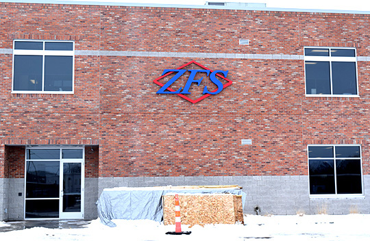 ZFS building gets a new sign finished