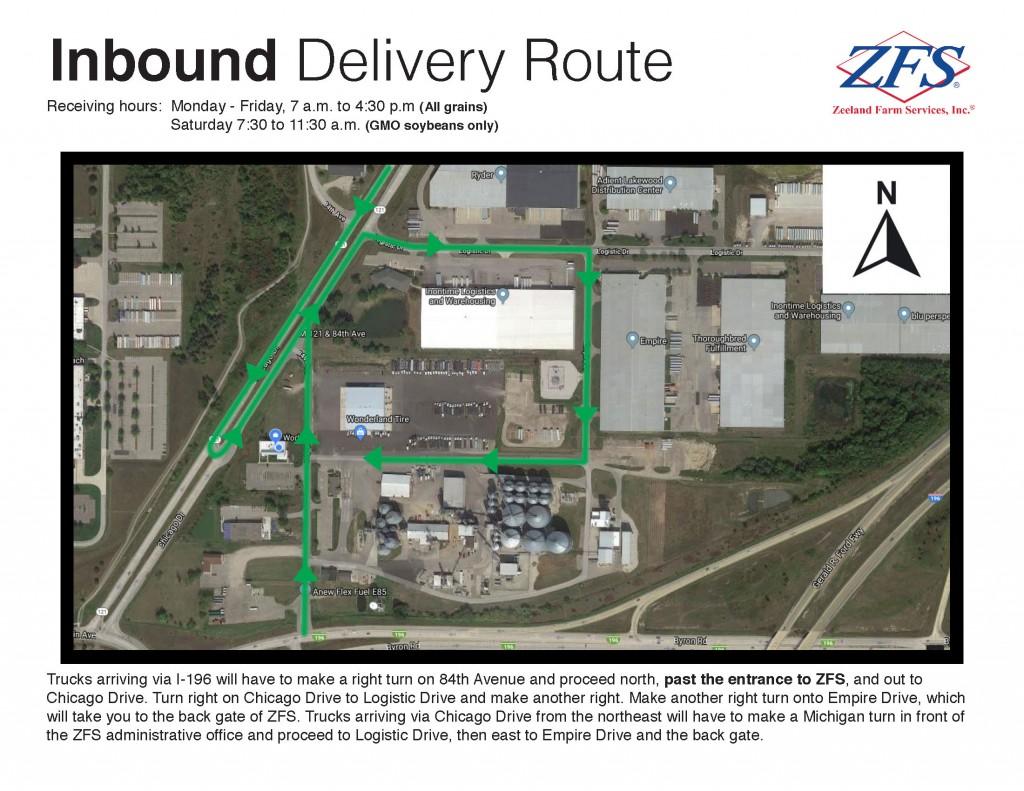ZFS Inbound truck route 2019